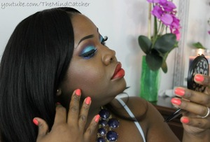 I used Black Up Cosmetics eye pigments as well as, Coastal Scents Pigments to complete this look!