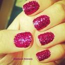 Pink glitter nails..