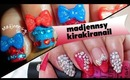 Sweet Bow Lolita Gyaru Nails: Collab with Kirakiranail