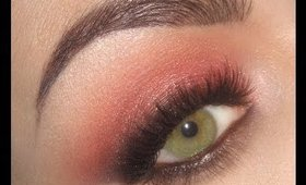 Summer Sunset - Warm Coral Smoky Eye makeup tutorial