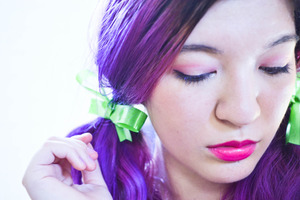 sneak peek at an upcoming Urban Decay product on my lips! :)