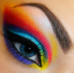I used my MAC palette and my Bed Head VIP palette. :)