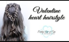 VALENTINE HEART HAIRSTYLE ❤️ 5 MIN OR LESS!