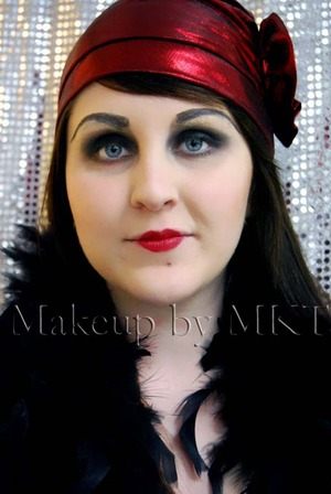 1920s era makeup First time using Kryolan brow plastic