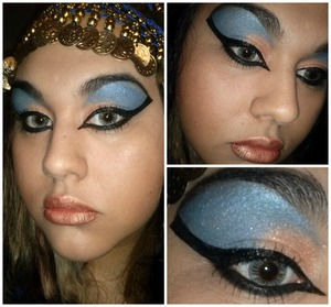 Created with Galaxy chic palette by bhcosmetics