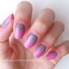 Half Colored Pattern Nails