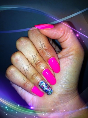 My nails of the day 💖