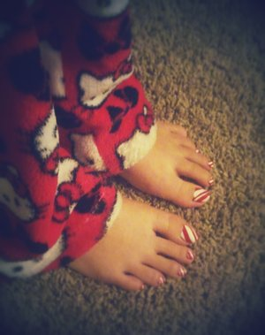 Candy Cane Toes