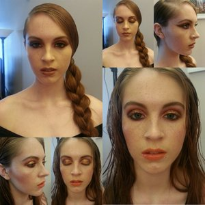Look 2&3 for a beauty editorial. Hair&Makeup by: Me.