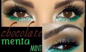 Chocolate y menta / chocolate & mint  eyemakeup