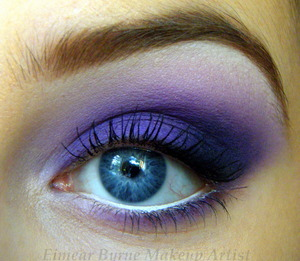 A vibrant purple smokey eye :) Tutorial: http://www.youtube.com/watch?v=pzRGdU4HckU