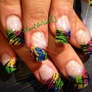 Full Set of Acrylic Tips With A Glitter Inlay