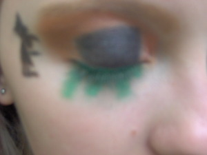 This is my right eye in the look I did for October that is of spilled cauldrons.
