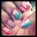 Water Marbling And Glitter