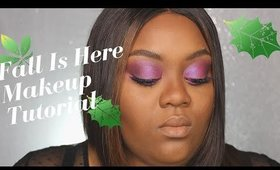 Fall is here purple makeup look