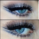 Double winged liner in blue