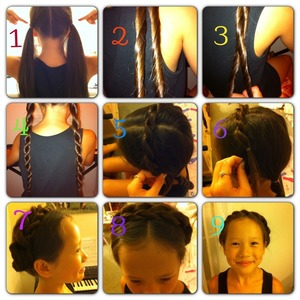 This is my 1st pictorial :) Please let me know if you like this pictorial, and what my next pictorial should be :) leave me comments if you have any questions! BTW if you don't know how to do the rope braid, you can just make a regular braid, or really any braid ;)