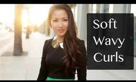 Soft Wavy Curls Hair Tutorial & Giveaway Winner!