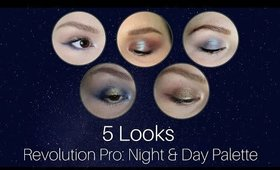 Revolution Pro Night & Day Palette   5 Day Color Story