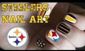 Pittsburgh Steelers Nail Art Tutorial | OliviaMakeupChannel