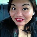 red lipstick & eyeliner