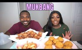 MUKBANG w/ Bae | Crab Balls, Garlic Shrimp, Keto Mac N Cheese +  MORE | Makeupd0ll