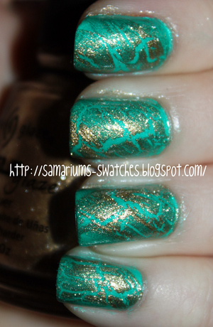 http://samariums-swatches.blogspot.com/2011/07/china-glaze-turned-up-turquoise-gold.html