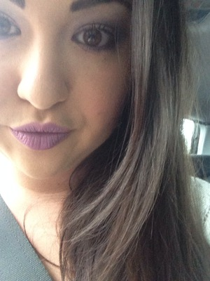I used revlons primrose lipstick then applied a purple bh cosmetics shadow on top! Blend, blend, blend and voila! Xxx