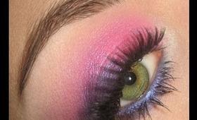 Dramatic Pink & Purple Summer make-up tutorial