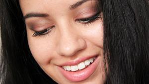 Makeup using a Lancéme palette