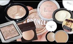 Powder Highlighter Collection inc. Makeup Revolution Haul | LetzMakeup