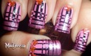 Pink Striped Nails - Striping Tape Nail Art BornPrettyStore.com Review+Tutorial