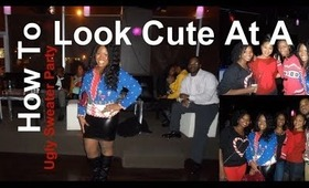 Quick Vlog : Looking Cute At An Ugly Sweater Party