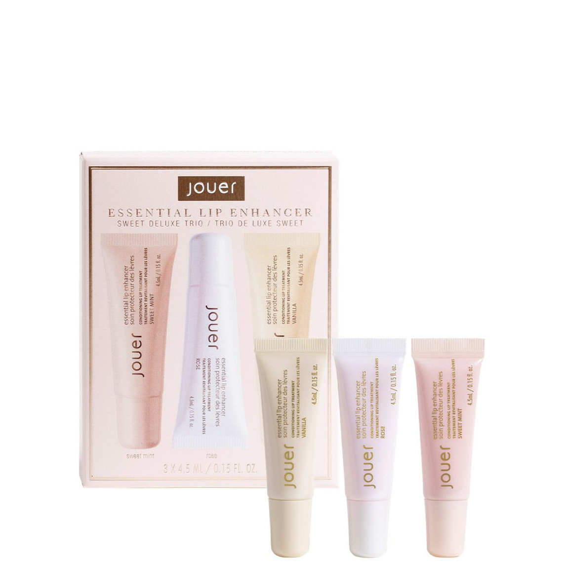 Jouer Cosmetics Essential Lip Enhancer Sweet Deluxe Trio alternative view 1 - product swatch.