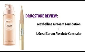 Drug Store Review: Maybelline Dream Nude Air Form & L'Oreal Visible Lift Concealar