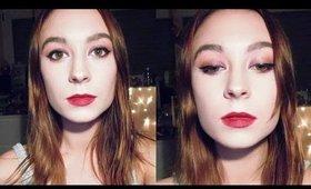 Dramatic Holiday Makeup Look ❄ Maroon Makeup