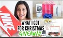 What I Got For Christmas 2014 + HUGE GIVEAWAY