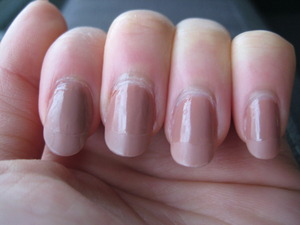 shiny nail, matte tips try-out