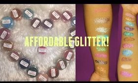 MOST AFFODABLE COSMETIC GLITTER! | 1$ GLITTER! |  COSMETIC GLITTER SWATCHES!
