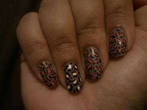 Leopard Look with Grey, Orange and White