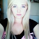 blue eyes, blonde hair, black eyebrows