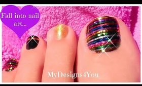 Festive Toe Nail Art | Christmas, New Year's Nails ♥