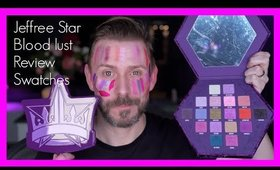 JEFFREE STAR BLOOD LUST COLLECTION! FULL REVIEW & SWATCHES!
