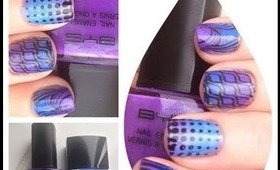 A montage of nail manicures/nail art stamping and lots of glitter