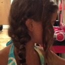 Braided Braid With Curl On Side