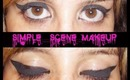 Thick winged eyeliner tutorial / Simple scene makeup