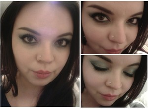 This was my bday look, the colors don't show good on the picture tho :(