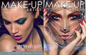 Dec/Jan 2014 (issue 105) & Feb/Mar 2015 (issue 112). Makeup and photography by Jordan Liberty.