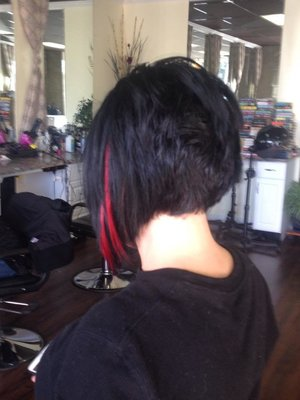 Hair cut and extension color by Christy Farabaugh