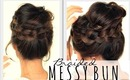 ★2ND-DAY HAIRSTYLES | MESSY BUN Crown BRAID  | HAIR TUTORIAL